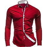 Lyon Becker® Stylish Mens Slim Fit Casual Italian Double Collar Shirt Long Sleeve M L XL XXL DC12