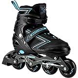 Nils Extreme SMJ Sport 2IN1 inline skates voor kinderen, verstelbare inlineskates, ABEC9 NH11912, blauw
