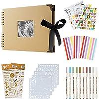 ASYOUWISH Bricolage Album Photo Creative Album Photo de Couple Collé à La Main, Album Photo A4, Scrapbook Ou Record de…
