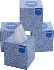 Kimberly-Clark Kleenex 60042 Facial Tissue Cube Box, 80 Pulls Per Box, 2 Ply, 4 Box Combo