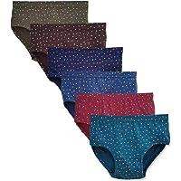 Elk Womens 100% Cotton Printed Panty Ladies Hipster Brief Inner wear Combo Pack of 6