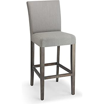 costantino pranzo fabric bar stool grey amazon co uk kitchen home rh amazon co uk Gray Club Chair gray bar stool chairs