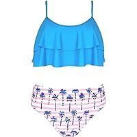 SHEKINI Costumi da Bagno per Donna Bambina Bikini Due Pezzi Madre e Figlia Carino Elegante a Balze Regolabile Halter…