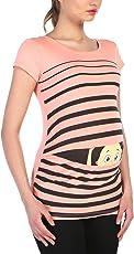 Witzige süße Umstandsmode T-Shirt mit Motiv Schwangerschaft Geschenk - Kurzarm