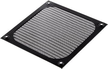 120mm Aluminum Alloy Stainless Mesh Fan Filter Dust Guard (Black)