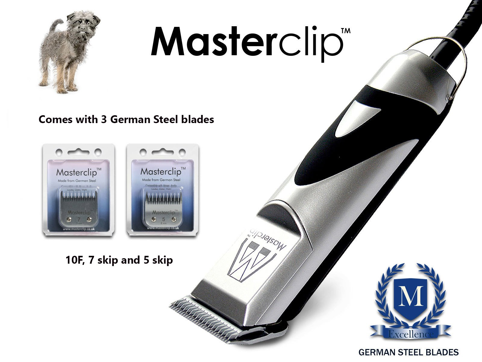Masterclip Professional Affenpinscher Dog Clippers Set Pet Grooming Clipper Trimmer Supplies