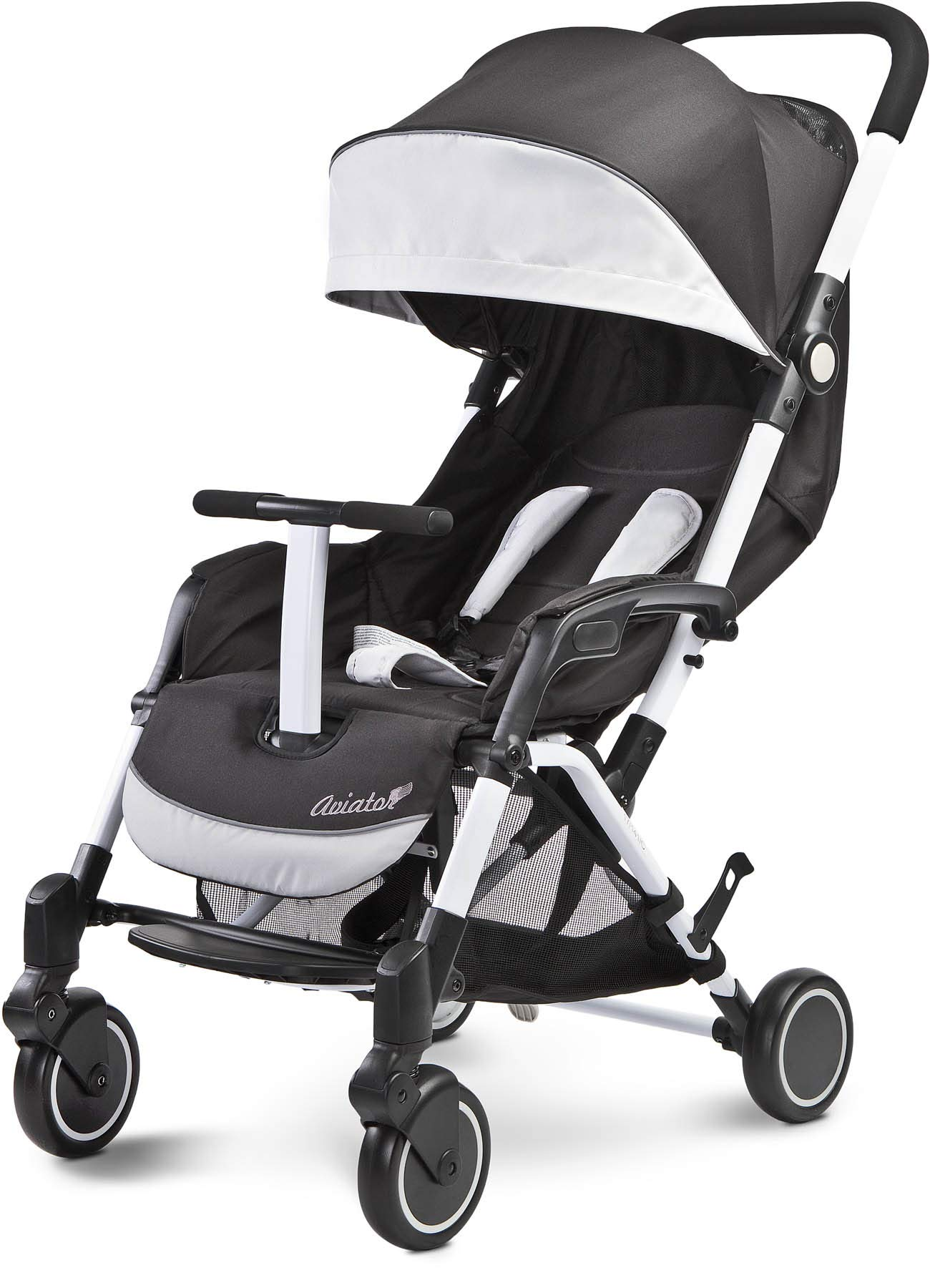 Aviator Ultralight Pushchair Grey Caretero Stroller for babies from 6 months Month weighing up to 15 kg Compact size and light weight (7.1kg) for easy manoeuvring and transport Eva foam wheels front with cushioning for driving comfort 1