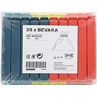 Ikea 103.391.71 Bevara Lot de 30 clips d'étanchéité, couleurs assorties, tailles assorties