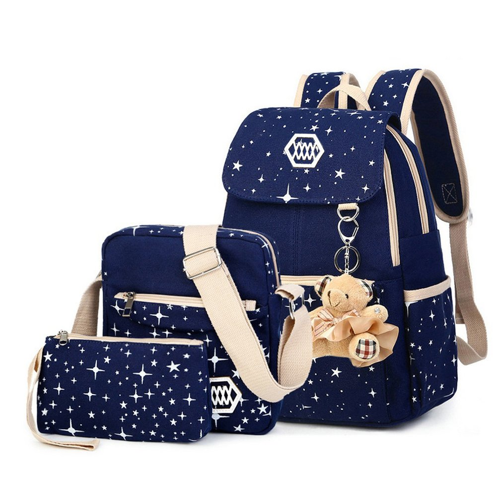 SHUL Canvas Casual Daypack School Backpack Weekend Rucksack Shoulders Bag For Girls Amazoncouk Luggage