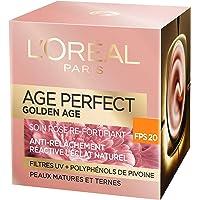 L'Oréal Paris - Age Perfect - Golden Age - Soin Jour Rose Re-Fortifiant FPS 20 - Anti-Relâchement & Eclat - Peaux…