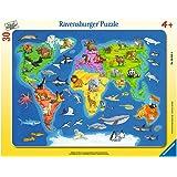 Ravensburger 06641 - Weltkarte mit Tieren