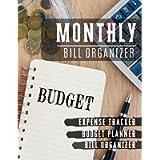 Monthly Bill Organizer: paycheck bill tracker   Budget Planning, Financial Planning Journal (Bill Tracker, expense log…
