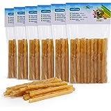 Nobleza - Friandises pour Chien, 120 Pièces bâtonnets à mâcher Chien, 125mm x 10mm, Stick Dentaire, Riche en protéines, pauvr