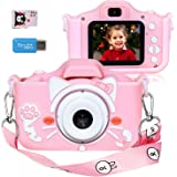 Langwolf Kids Digital Camera for Girls and Boys, Kids Children Selfie Photo Video Camera Camcorder with 32 or 16GB SD…