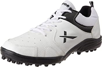Vector X Cricket Studs Sports Shoes - White/Black