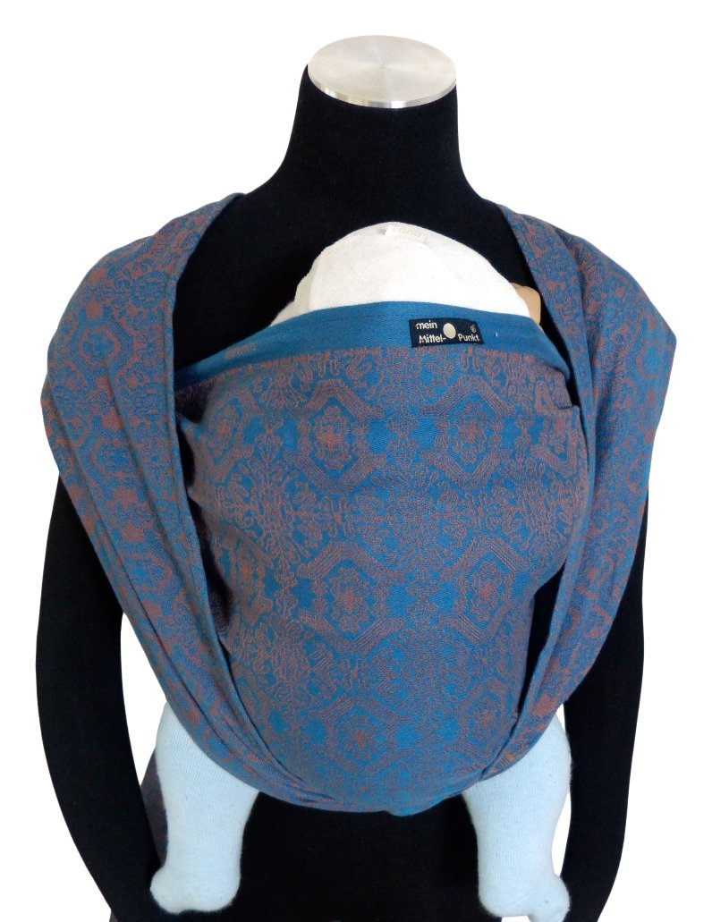Didymos Woven Baby Wrap, Ludwig, Size 7, 520 cm, Petrol Didymos Various carrying positions, in front, sideways an on the back Special, diagonally stretchable cloth to give optimal support Holds your baby in the anatomically correct posture 1