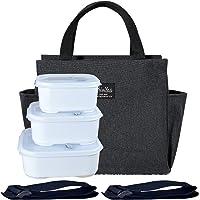 Boîte à Bento De Travail Portable Avec Sac Isotherme. 3 Boîtes à déjeuner, 900Ml+1200Ml+1500Ml. Convient Pour La Famille…