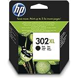 HP 302XL F6U68AE, Negro,. Cartucho de Tinta de Alta Capacidad Original, compatible con impresoras de inyección de tinta HP De