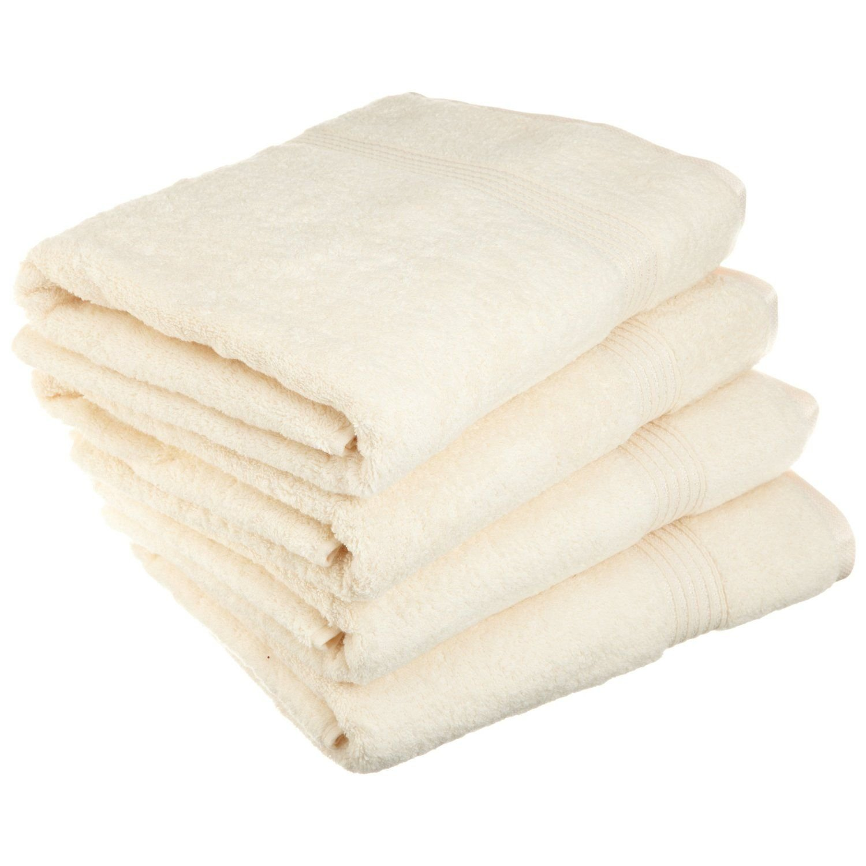 Superior - Set di asciugamani da bagno, cotone, avorio, 4 pezzi