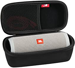 Hard EVA Travel Case for JBL Flip 3 / Flip 4 Splashproof Portable Bluetooth Speaker by Hermitshell (Black)