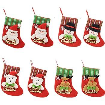 HONGCI 8Pcs Calzini di Natale Posate Titolare Forchetta Cucchiaio Tasca  Dinner Table Partito Set Decorazione Natalizia Festa bee726d12b25