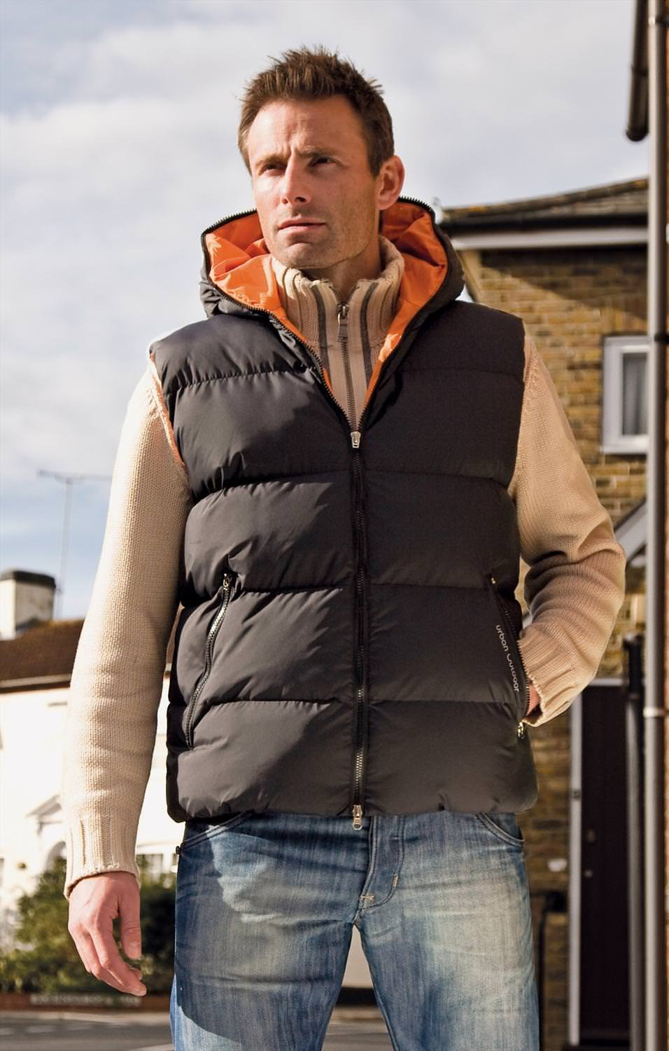 71Mk88w6RqL - Result Mens Outdoor Wear Dax Down Feel Gilet Bodywarmer