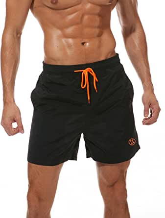 ZOXOZ Mens Swimming Shorts Waterproof Quick Dry Beach Shorts Surfing Shorts with Mesh Lining