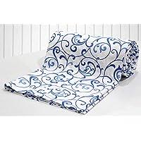 """AURAVE Cotton 144 TC Duvet Cover (90""""x100""""_Blue)"""