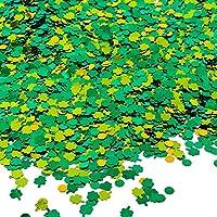 Aneco 100g   5800 pezzi quadrifogli tavolo coriandoli fortunato rotondi  paillettes per arti e mestieri giorno 6874b6ef5d65