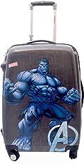 Texas USA Hulk Printed Polycarbonate 18-inch Grey Hard Top 4 Wheel Trolley Bag for Kids