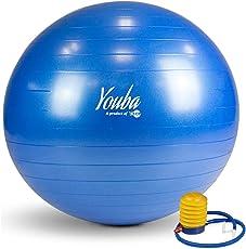 Youba Anti Burst Gym Ball ,65 cm ,Blue With Foot Pump