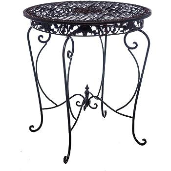 Amazon.de: Gartentisch Tisch 73cm Garten Eisen Antik-Stil ...