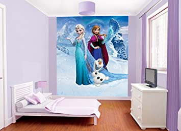 Walltastic 8 X 6 Ft 6 Inch Paper Disney Frozen Wall Mural, Multi  Part 80