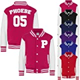 Personalised Name and Number Initials Kids Varsity Jacket American Style Collage Jacket Kids Personalised Jackets Boys…