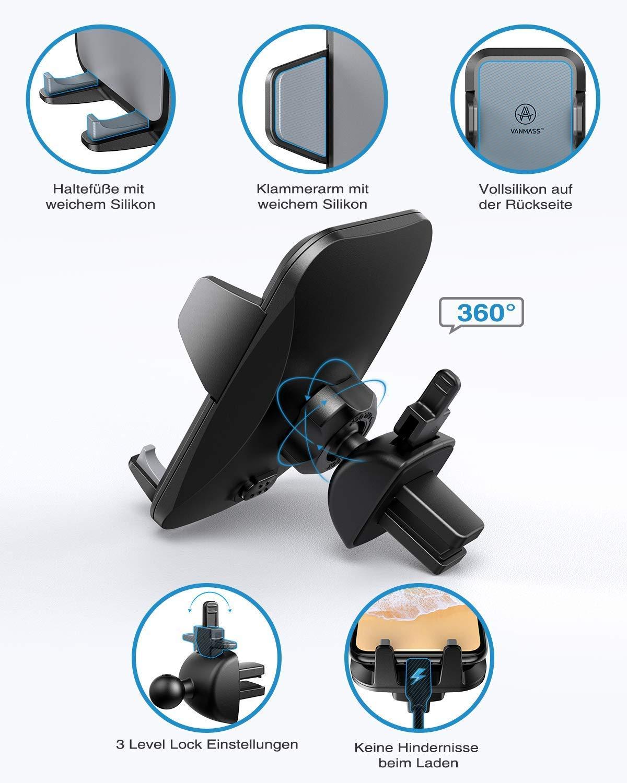 VANMASS-Handyhalterung-Auto-Handyhalter-frs-Auto-Lftung-Saugnapf-Halterung-3-in-1-Smartphone-Halterung-KFZ-100-Silikon-Schtzt-Universal-fr-alle-4-7-Zoll-Handys-wie-iPhone-Samsung-Huawei-LG