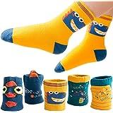 T WILKER 5 Pares de Calcetines para Niños, Espesar Los Patrones de Dibujos Animados Térmicos de Algodón Calcetines para Niños