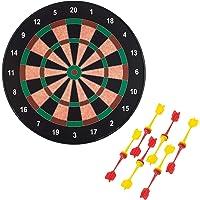 Playtastic Dart: Magnetische Dartscheibe mit 12 Pfeilen, je 6X gelb und rot, Ø 40cm (Dart Spiel)