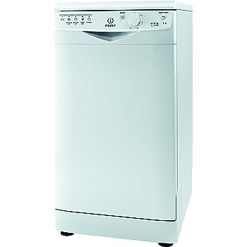 Indesit DSR15B1 Dishwasher Freestanding Slimline 45centimeter Aplus Energy White