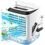 Climatiseurs Mobiles Mini Refroidisseur d'air Silencieux, Ventilateur de Climatiseur Portable 4 en 1 Avec Refroidissement par