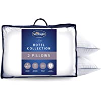 Silentnight Hotel Collection Luxury Piped Pillow Pair, Hollowfibre, White, 74 x 48 cm