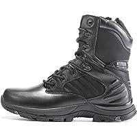 RENHONG Hommes Bottes de Combat Tactiques Militaires légères travaux de la Police Noir Chaussures de Lacets de Haut en…