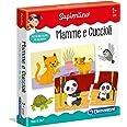 Clementoni Sapientino Mamme e Cuccioli tessere illustrate, 12 mini puzzle, gioco educativo 2 anni, progressive puzzle incastr