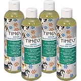 Timely, shampoo per cani olio di argan, delicato ma intensivo per pelo ruvido e secco, confezione da 4 x 250 ml
