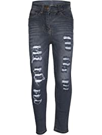 5561e361dab77 A2Z 4 Kids Kids Girls Skinny Jeans Designer's Denim Ripped Fashion Stretchy  Jeggings Pants Stylish Trousers