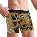 KAIHONG Tiger Hand Drawing Men's Boxer Briefs Soft Personalized Underwear with Covered Waistband