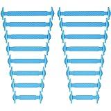 Newkeen No Tie Lacets pour les enfants et adultes - imperméables Silicon Flat élastiques Lacets de sport course de chaussures
