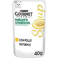 PURINA GOURMET NATURE'S CREATIONS Soup Soup Gatto Delicato Brodo con Pollo Naturale, 32 Buste da 40 g Ciacuna…
