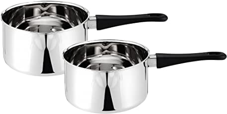 Solimo Stainless Steel 2-Piece Sauce Pan Set