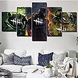 Modulares Bild 5-teiliges Spiel Dead By Daylight Poster Modernes Wohnzimmer Wandkunst Home Dekorativer Rahmen…