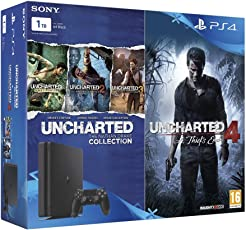 Sony PS4 1 TB Slim Console (Free Games: Uncharted 4 & Uncharted: The Nathan Drake Collection)